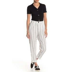 Know One Cares Striped Crop Pants
